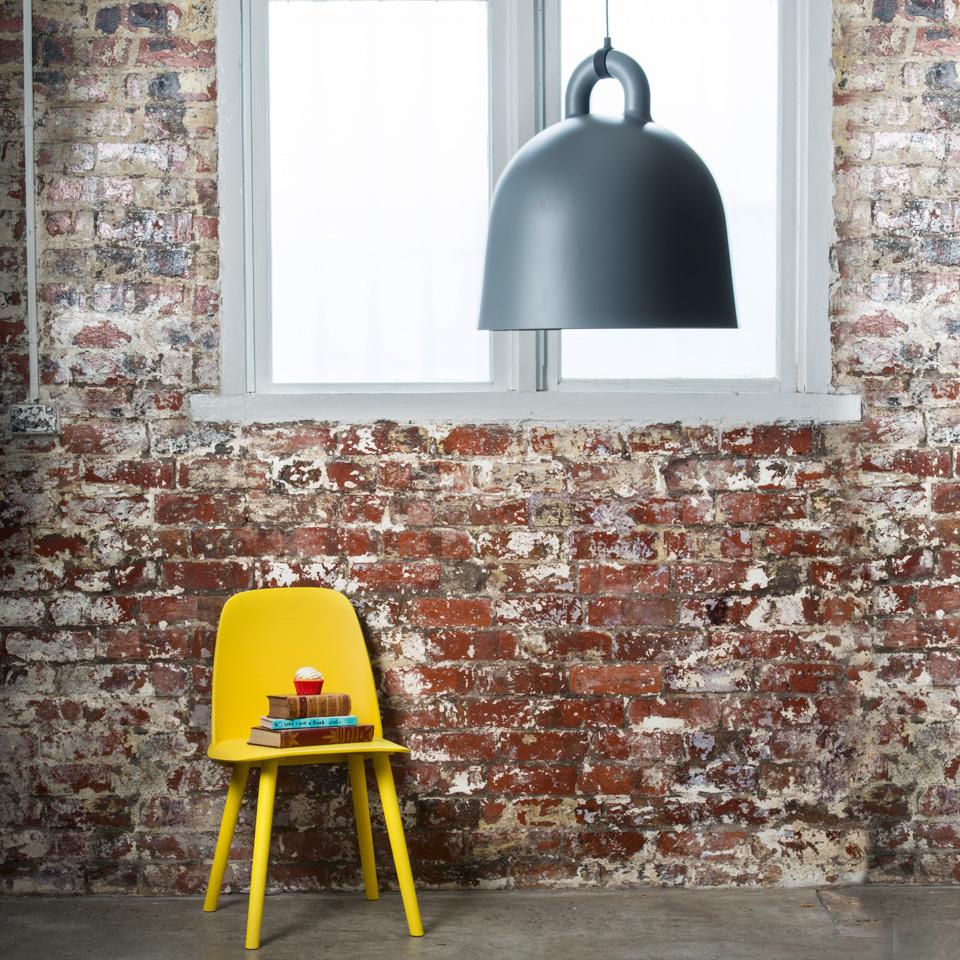 normann copenhagen bell lamp grey large surrounding. Black Bedroom Furniture Sets. Home Design Ideas